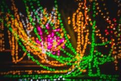 Cercles colorés de bokeh abstrait léger Photos libres de droits