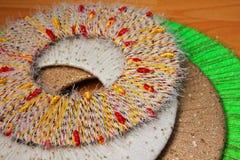 Cercles colorés de fil, fond, texture Photo libre de droits
