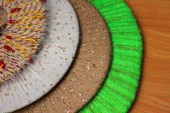 Cercles colorés de fil, fond, texture Photos stock