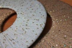 Cercles colorés de fil, fond, texture Images stock