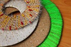 Cercles colorés de fil, fond, texture Photos libres de droits
