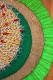 Cercles colorés de fil, fond, texture Photo stock