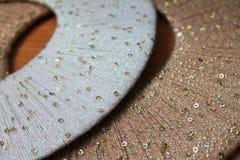 Cercles colorés de fil, fond, texture Image libre de droits