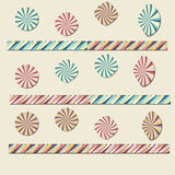 Cercles colorés de papier Photos libres de droits