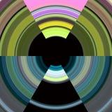 Cercles colorés de pixel, fond Photo stock