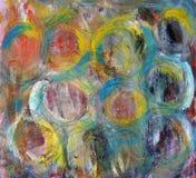 Cercles colorés Les courses de la peinture Fond lumineux coloré illustration libre de droits