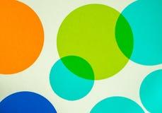Cercles colorés vibrants Photos libres de droits