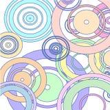 Cercles color?s sur le fond blanc illustration libre de droits