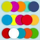 Cercles colorés layered-2 Image libre de droits