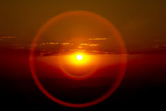 Cercles concentriques de coucher du soleil Image stock