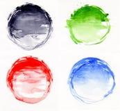 Cercles d'aquarelle Photographie stock libre de droits