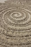 Cercles dans le sable Photos libres de droits