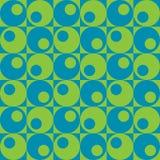 Cercles dans Squares_Blue-Green Illustration de Vecteur