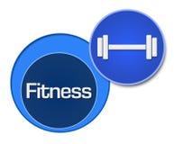 Cercles de bleu de forme physique Image libre de droits
