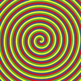 Cercles de couleur hypnotiques Collection de milieux en spirale psychédéliques colorés Remous abstraits d'illusion optique d'hypn illustration stock
