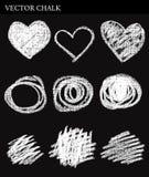Cercles de craie de vecteur Image stock