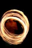 Cercles de danseur d'incendie   Images libres de droits