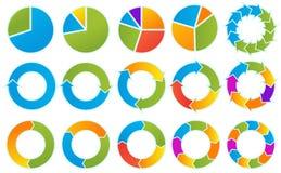 Cercles de flèche Images stock