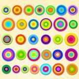 Cercles de flottement Photos stock