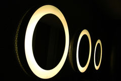 Cercles de lumière. Photo libre de droits