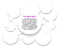 Cercles de papier Photographie stock libre de droits