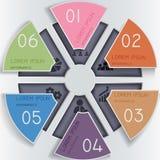 Cercles de papier abstraits Photographie stock libre de droits