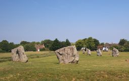 Cercles de pierre d'Avebury Images stock