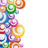Cercles de pointe abstraits de fond illustration de vecteur