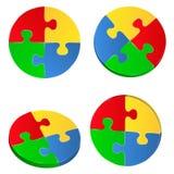 Cercles de puzzle denteux Image libre de droits