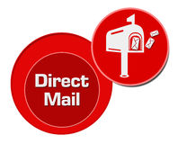 Cercles de rouge de courrier direct Image stock