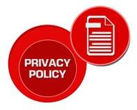 Cercles de rouge de politique de confidentialité Photo stock