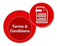 Cercles de rouge de termes et conditions Photo libre de droits