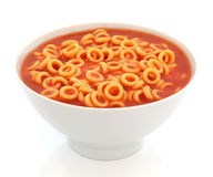 Cercles de spaghetti Photographie stock
