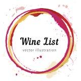 Cercles de tache de vin illustration libre de droits