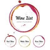 Cercles de tache de vin illustration de vecteur