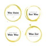 Cercles de tache de vin blanc illustration libre de droits