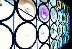 Cercles de verre et de couleur photographie stock libre de droits