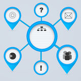 Cercles du réseau 3d. Photographie stock