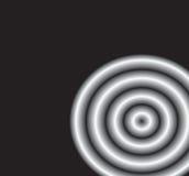 Cercles en métal sur le noir Illustration Stock