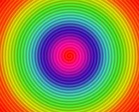 Cercles en spirale colorés Photographie stock