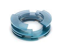 Cercles en verre Image libre de droits
