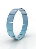 Cercles en verre Image stock