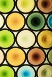 Cercles en verre colorés abstraits Image stock