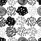 Cercles et Dots Seamless Vector Pattern tirés par la main Photo stock
