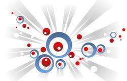 cercles et faisceaux Rouge-bleus Image stock