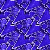 Cercles et triangles bleus abstraits image stock