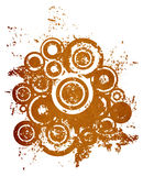 Cercles grunges illustration libre de droits