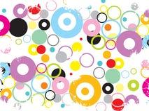 Cercles grunges géniaux Photo libre de droits