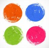 Cercles grunges lumineux avec l'endroit pour votre texte Photo stock