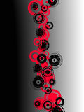 Cercles grunges rouges et noirs illustration stock